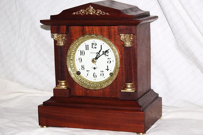 Seth Thomas Mahogany Veneer Clock dates back to 1896