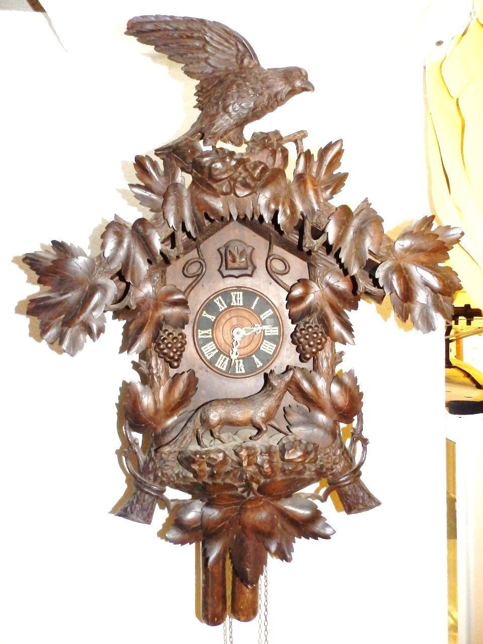 Nature lover's dream antique clock From the late 1880's